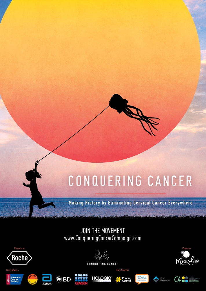 Conquering Cancer Movie Poster Created by Moonshine Agency