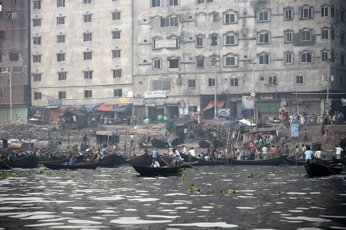 Boats on the water in Bangladesh