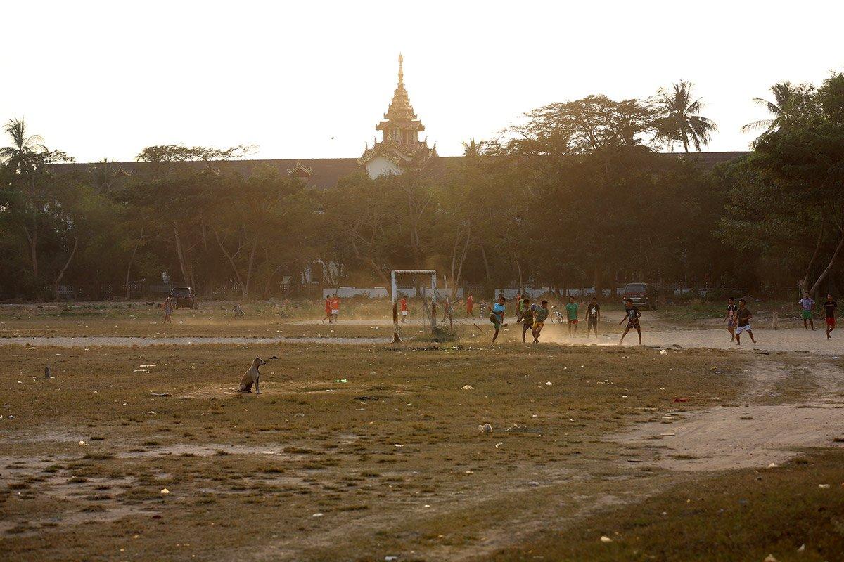 Football in Yangon Myanmar