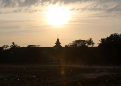 Mike Hill Moonshine Agency Football at sunset Yangon Myanmar