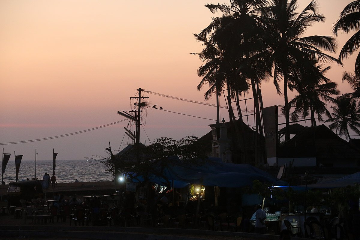 Mike Hill Moonshine Agency Sunset beach Calicut India