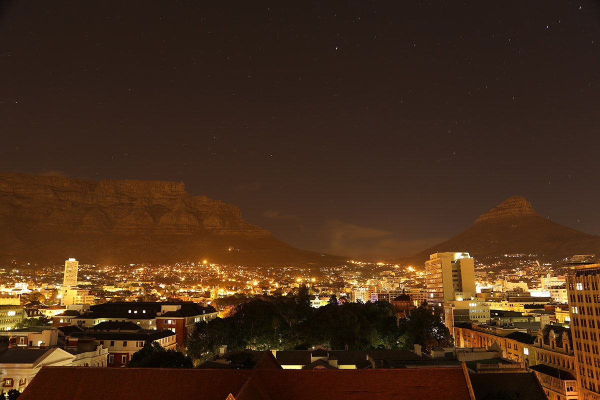 Mike Hill Moonshine Agency Table Mountain Cape Town night