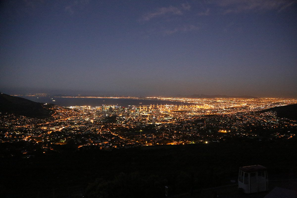 Mike Hill Moonshine Agency Cape Town from Cable Mountain